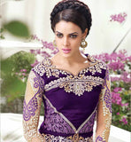 10002 VIOLET WEDDING WEAR DRESSES ZOYA EMPRESS VELVET DESIGNER SUITS COLLECTIONS PRIYANKA FASHIONS SURAT