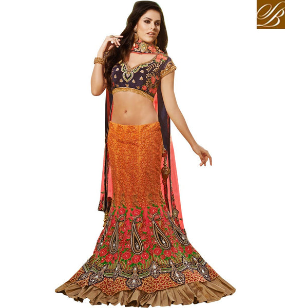 10004 STYLISH HAND WORK BRIDAL LEHENGA CHOLI ONLINE SHOPPING DESIGN