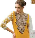 GOOD LOOKING LONG STRAIGHT KURTI CHURIDAR BOTTOM & CHIFFON DUPATTA