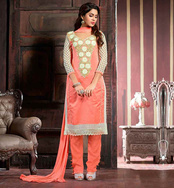 EVER STYLISH FASHION DRESSES SALWAR DESIGNS 2015 CHANDERI COTTON