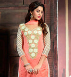 PLEASING SALWAR KAMEEZ & DUPATTA WITH TRENDY EMBROIDERED NECK