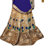 BROUGHT TO YOU BY STYLISH BAZAAR CAPTIVATING BLUE AND CREAM SAREE CONJUGATED TO A CREAM BLOUSE RTROS10008