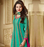 ROYAL GREEN PARTY WEAR SALWAR SUIT WITH SHADED DUPATTA