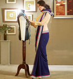 BEAUTIFUL BLUE DESIGNER GEORGETTE SAREE RTFE10013 - stylishbazaar - saree buy online, indian saree buy online, sarees buy online, indian saree online, saree blouse design , buy sarees online, Diwali Shopping, Deepawali Shopping, Diwali 2014, Festive Trends 2014