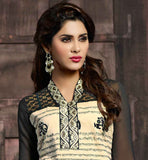 EXCITING CREAM SALWAR KAMEEZ  WITH DUPATTA