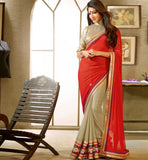 MAJESTIC MAROON & CHIKOO DESIGNER GEORGETTE SAREE RTFE10017 stylishbazaar - Party Wear Sarees Online, StylishBazaar Online Sarees, Designer Saris, Designer Sarees, Buy Online Sarees, Buy Sarees Online, Partywear Sarees, Designer Saris Online, Saree Online Shoppping, Saree Designs, Blouse Designs
