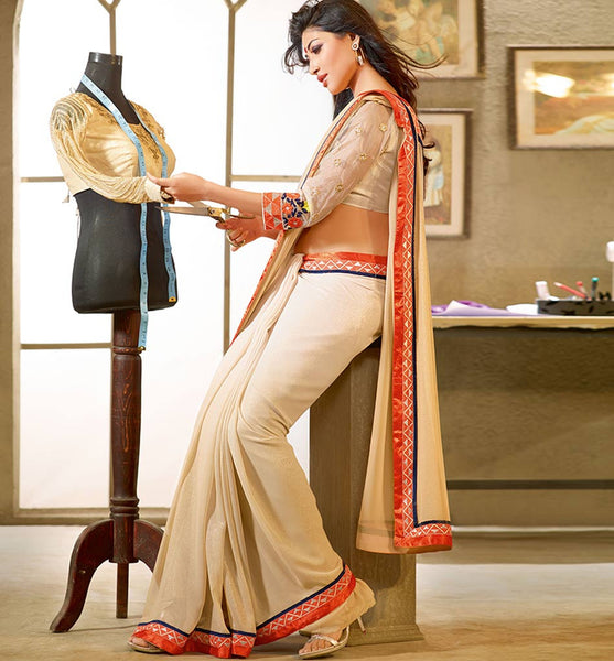EYE-CATCHING DESIGNER GEORGETTE SAREE RTFE10019 - stylishbazaar - ethnic wear for women, women ethnic wear, ethnic wear for women online, women ethnic wear online shopping, women ethnic wear online, Diwali Shopping, Deepawali Shopping, Diwali 2014, Festive Trends 2014