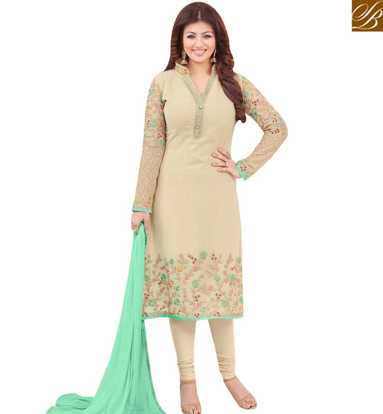 STYLISH BAZAAR BOLLYWOOD ACTRESS AYESHA TAKIA'S GORGEOUS EMBROIDERY WORK SALWAR SUIT MAAYT1001C