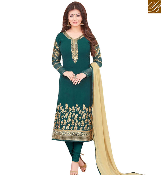 STYLISH BAZAAR BOLLYWOOD ACTRESS AYESHA TAKIA'S OUTRAGEOUS GREEN COLORED SUIT MAAYT1001D