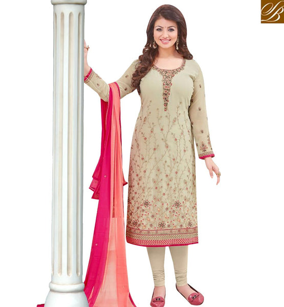 STYLISH BAZAAR BOLLYWOOD ACTRESS AYESHA TAKIA'S STAGGERING SALWAR SUIT WITH ATTRACTIVE EMBROIDERY WORK MAAYT1001G
