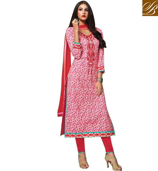 PAKISTANI-DESIGNERS-DRESSES-STYLISH-COLLECTION-OF-SHALWAR-KAMEEZ-DESIGNS-FOR-WOMEN-AWESOME-PINK-COTTON-TOP-WITH-MAROON-SALWAR-AND-CHIFFON-DUPATTA