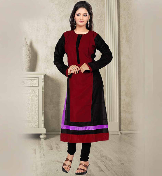 EXCELLENT DESIGN MODERN LOOK COTTON KNEE HEIGHT STYLISH KURTI TOP