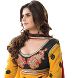 EXCITING YELLOW COLOR ZAREEN KHAN ANARKALI SUIT RTZA1001 - StylishBazaar - Zarine Khan, Zareen Khan, Bollywood Salwar Kameez, Bollywood Anarkali Suits, buy Salwar Suits online UK, buy Anarkali UK, buy salwar Kameeez USA, Salwar Kameez , Designer Salwar Suits, Online Salwar Kameez Shopping, Online Shopping Website