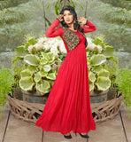 AISHWARYA SAKHUJA IN RED KOTI STYLE NET FABRIC GOWN