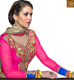 STYLISHBAZAAR 3PC BLUE & PINK WEDDING ANMOL COLLECTION LENGHA CHOLI ANSHE1002