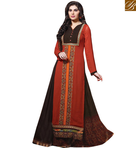 FINE DESIGNER SALWAAR KAMEEZ DESIGN FOR SPECIAL EVENTS VDENZ10020 BY ORANGE