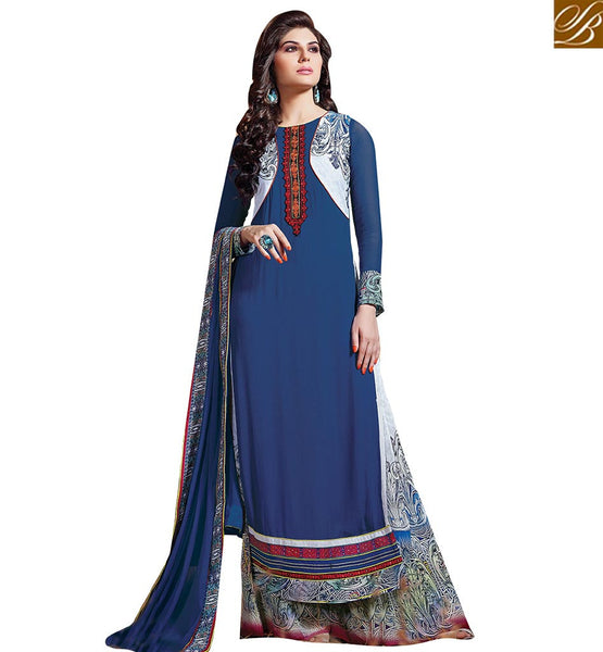 BROUGHT TO YOU BY STYLISH BAZAAR MAGNIFICENT PAKISTANI STYLE SALWAAR SUIT DESIGN FOR SPECIAL OCASSION VDENZ10022