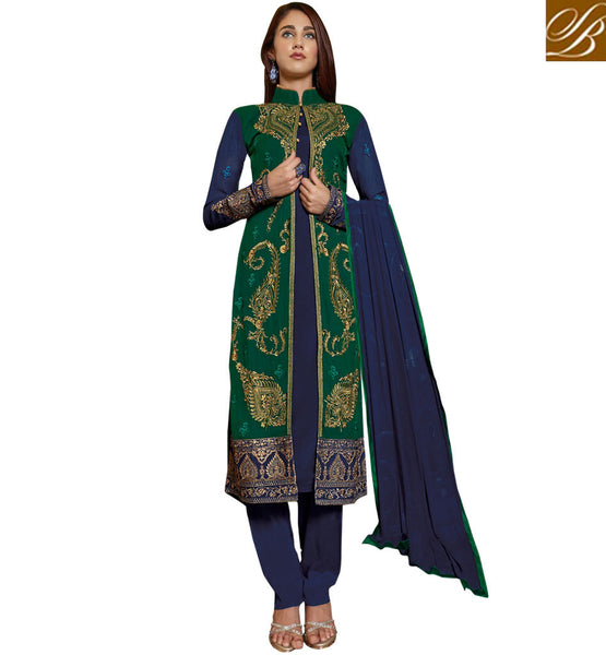PUNJABI SUIT DESIGN INDIAN DRESS DESIGN PATTERNS  LONG KAMEEZ LBRB1002