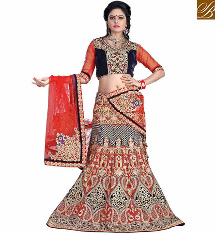 STYLISH BAZAAR STUNNING GHAGHRA CHOLI DESIGN FOR MARRIAGES MCU11002