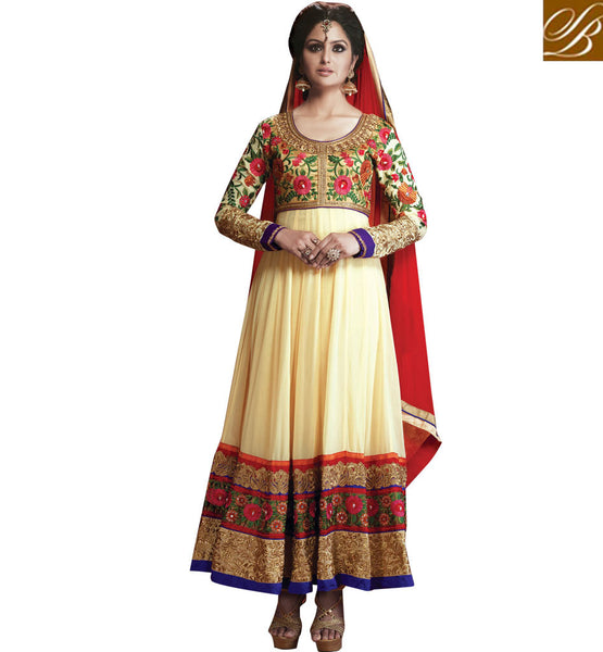 OCCASION WEAR GEORGETTE ANARKALI WITH CHIFFON DUPATTA STYLISHBAZAAR ONLINE SHOPPING