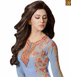 SKY BLUE LUXURIOUS EMBROIDERED SALWAR KAMEEZ WITH ATTRACTIVE STYLE SLMUG10031