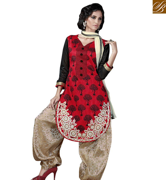 STYLISH BAZAAR LUXUORIOUS PATIYALA STYLE SALWAAR KAMEEZ DESIGN SUIT FOR WOMEN VDSRY10032