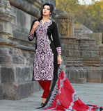 INDIAN CLOTHING FASHION WEAR OF SHALWAR KAMEEZ DESIGNS SUITS FOR WOMENSUPERB COLOR COMBINATION BLACK TOP WITH MAROON BOTTOM AND AWESOME ODHNI