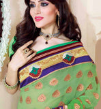 GREEN & MAROON SAREE RTCHN1003 STYLISHBAZAAR WOMENS ONLINE SHOPPING WEBSITE