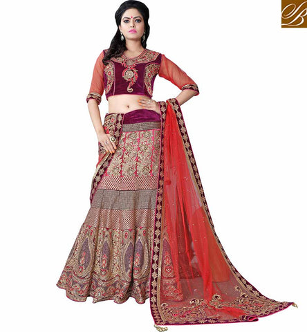 A STYLISH BAZAAR PRESENTATION  SUBLIME BRIDAL WEAR LEHNEGA SARI MCU11003
