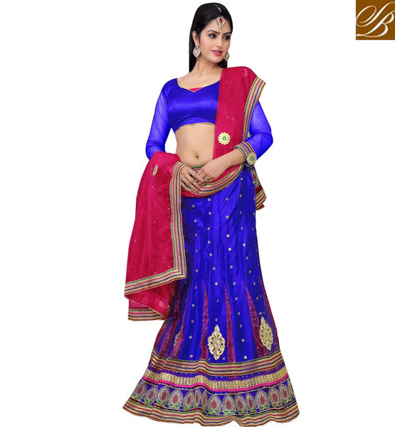 SHOP ONLINE DESIGNER ROYAL GHAGRA CHOLI DUPATTA SET AT CHEAP RATE