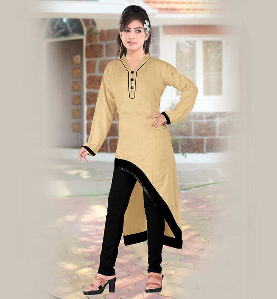 STYLISH ASYMMETRIC CUT MALAI COTTON KURTI TOP TO PAIR WITH JEANS