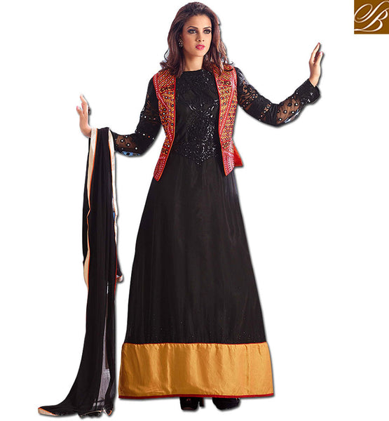 STYLISH SUIT JACKET DESIGNER SALWAR KAMEEZ 2015 GOWN LOOK ANARKALI