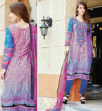 WOMEN COTTON SUITS ONLINE SHOPPING AT LOW PRICEDESIGNER BLUE AND PINK PURE COTTON KAMEEZ WITH CONTRAST SALWAR AND EXCITING DUPATTA