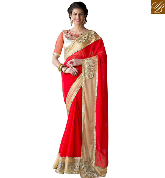 REMARKABLY DESIGNED SAREE BLOUSE DESIGN RTSHD1004 RED