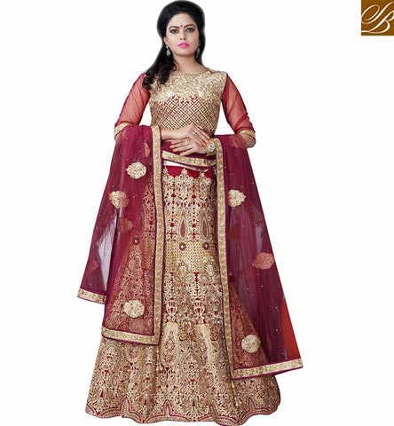 STYLISH BAZAAR PRESENTS SUPERB BRIDAL WEAR LEHENGA SAREE MCU11004