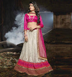 EXCELLENT MARRIAGE WEAR NET LEHENGA CHOLI WITH LACE WORKED DUPATTA