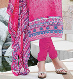 FULL PRINTED DRESS AND DUPATTA WITH EMBROIDERED NECKLINE AND PLAIN SALWAR BUY PURE COTTON SALWAR SUIT ONLINE BELOW 2000