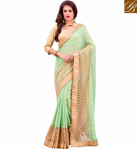 A STYLISH BAZAAR PRESENTATION GORGEOUS LATEST DESIGN PARTY WEAR SAREE VDMIZ1005