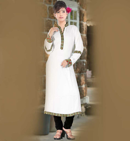LATEST FASHION COTTON LONG KURTI TOP TO WEAR WITH CHURIDAR & LEGGINGS