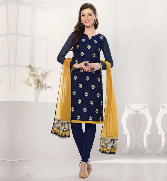 TREND SIMPLE PUNJABI SALWAR KAMEEZ FOR WOMEN EXCITING STRAIGHT CUT OFFICE WEAR WITH ELEGANT EMBROIDERY