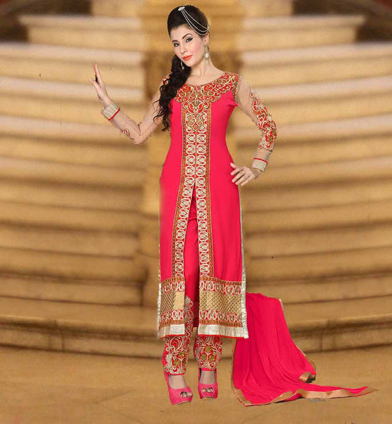 LATEST SALWAR KAMEEZ DESIGNS INSPIRED FROM MOVIE SUPERB STYLISH DRESS WITH EMBROIDERY WORK ON TOP AND BOTTOM