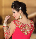 GEORGETTE PARTY WEAR SUIT WITH MATCHING NAZNEEN LACE BORDER DUPATTA LATEST SALWAR KAMEEZ DESIGNS INSPIRED FROM MOVIE