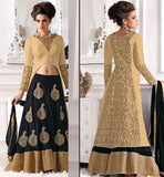 FANCY LEHENGA CHOLI DESIGNS FOR INDIAN WEDDINGS EXCELLENT LEHENGA TOGETHER WITH DESIGNER VERY LONG CHOLI HAVING EXCELLENT DESIGNING