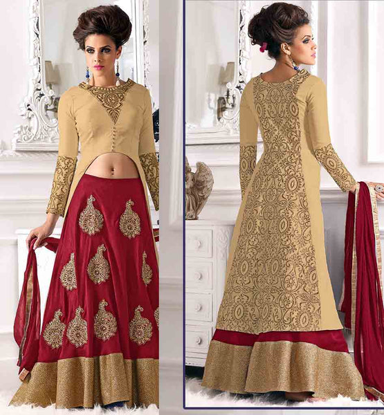WEDDING WEAR LEHENGA CHOLI NEW 2015 PATTERNS OUTSTANDING LEHENGA ALONG WITH STUNNING EXTENSIVE CHOLI ENHANCED WITH SMART DESIGNING