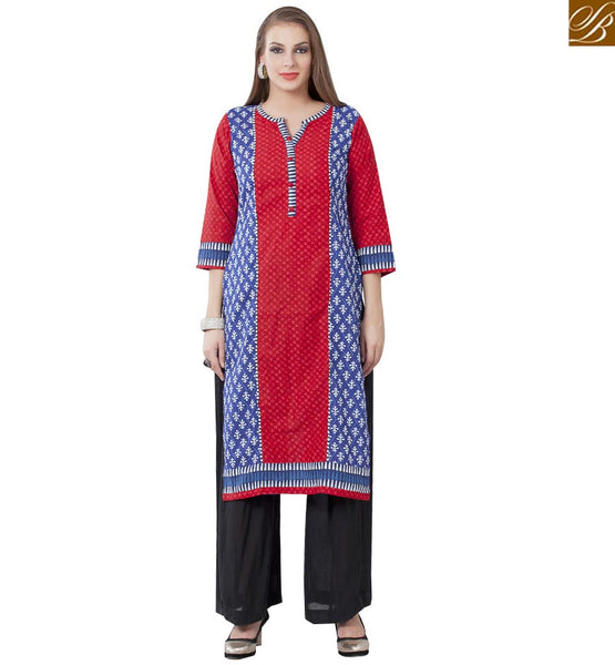 CAPTIVATING DESIGNER PARTY WEAR KURTI RTEMP1006 BY RED AND BLUE