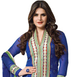 BEAUTIFUL BLUE COLOR ZAREEN KHAN ANARKALI SUIT RTZA1006 - stylishbazaar - Zarine Khan, Zareen Khan, Bollywood Salwar Kameez, Bollywood Anarkali Suits,, buy designer Salwar Kameez online, designer Salwar Kameez Online Shopping, designer Anarkali buy online, designer Anarkali Suits buy online, buy online designer Salwar Kameez, Indian Designer Anarkali Suits
