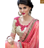STYLISH BAZAAR BEAUTIFUL FLOWERY DESIGNED SAREE BLOUSE RTSHD1007