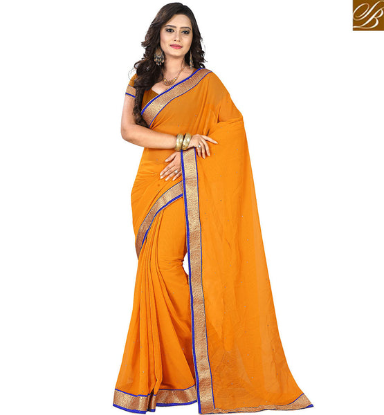 STYLISH BAZAAR APPEALING SARI FASHION SINGLE COLOR WITH MATCHING CHOLI VDPCK10072