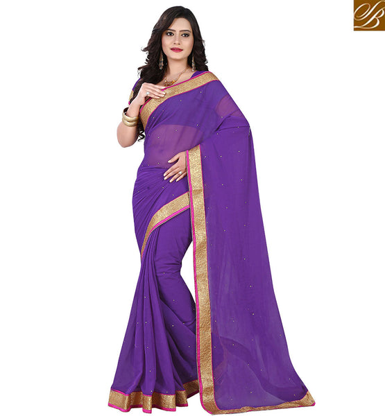 STYLISH BAZAAR CLASSY SINGLE COLOR INDIAN SARI VDPCK10076