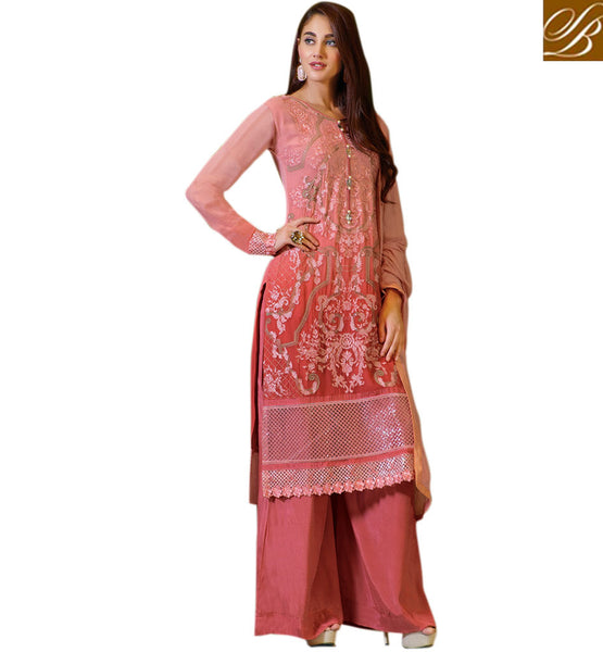 PUNJABI SUIT DESIGNS RICH LOOKING SIMPLE SALWAR KAMEEZ CHUDIDAR DRESS PATTERNS SPECTACULAR STRAIGHT CUT PARTY WEAR DRESS WITH ZARI, RESHAM EMBROIDERY, TIKIWORK AND LACE BORDER